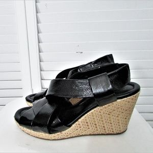 Cole Haan NIKE AIR black patent leather sandals